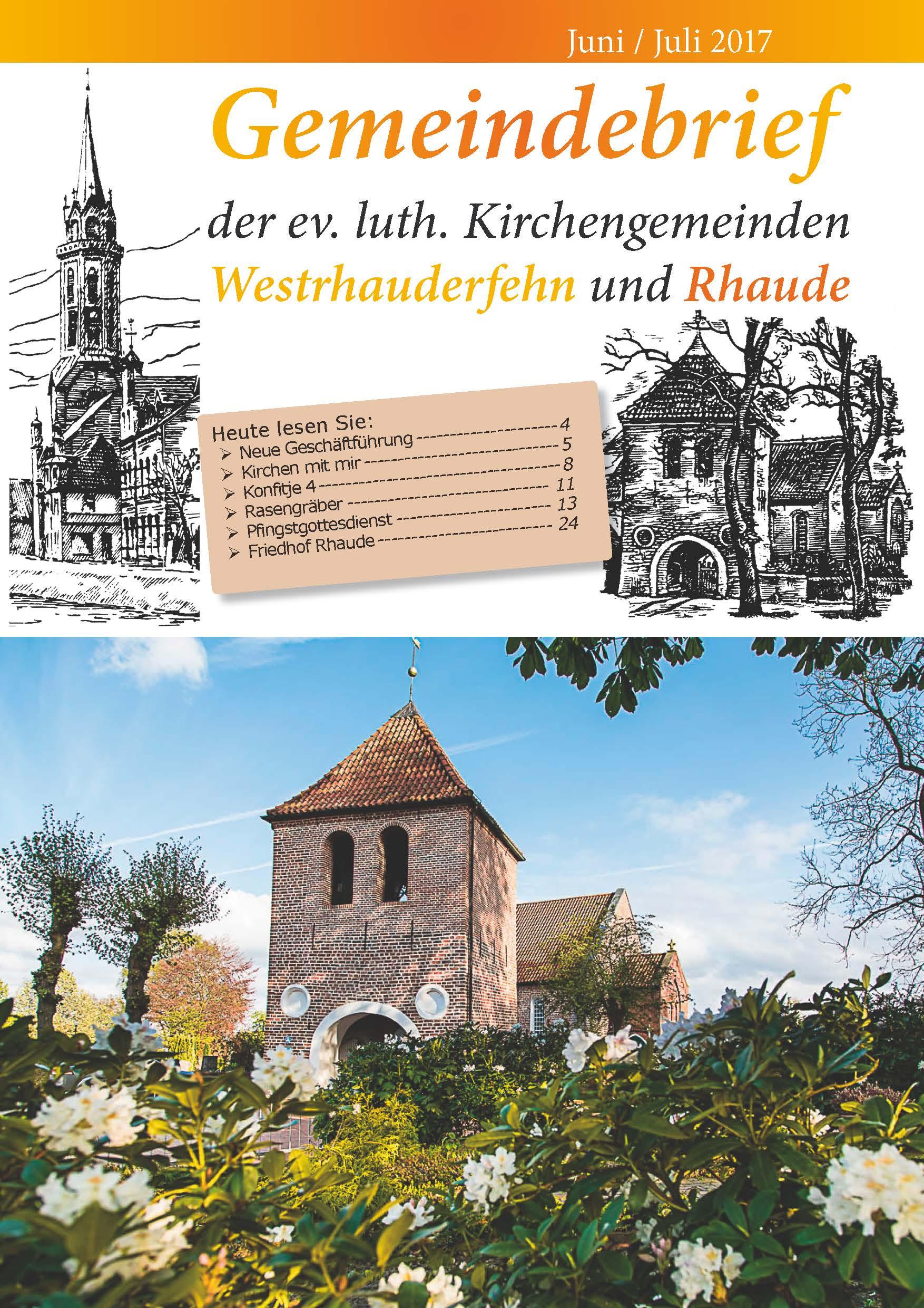 Kirche West Rhaude Rfehn Gemeindebrief